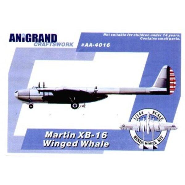 Martin XB-16 Geflügelten Walfisch-Traumdesign der 1930er Jahre. Auch schließt BONUS-Bausätze des Grummans J2F-5 Duck Lockheed XP