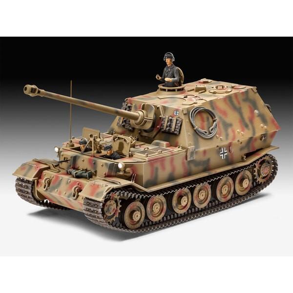 Sd.Kfz.184 Elefant Panzerjäger Ein Modellbaukasten eines schweren Wehrmacht-Panzerjägers, ausgestattet mit einer Panzerabwehrpis