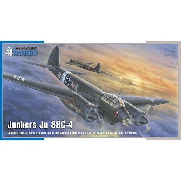 Junkers Ju-88C-4 Nacht-Eindringling.In den Jahren vor dem Ausbruch des Zweiten Weltkrieges führte die deutsche Luftwaffe zwei K
