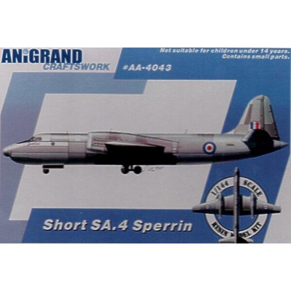 Kurzer SA.4 Sperrin. Beinhaltet BONUS-Bausätze von Gloster Javelin Hawker P.1127 & Short SB.5. Nach dem Ende des zweiten Weltkri