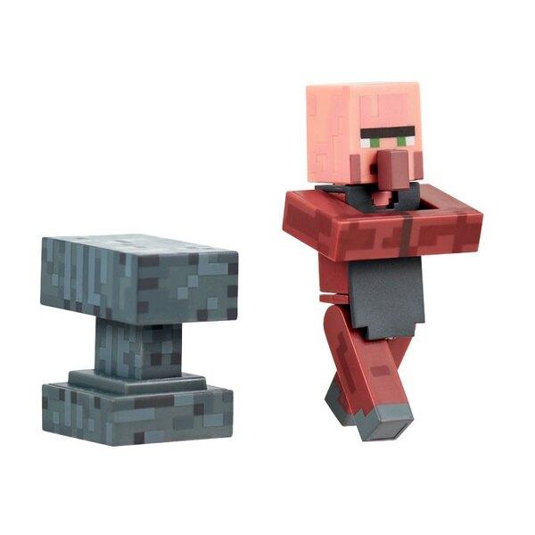 Minecraft Actionfigur Blacksmith with Anvil 8 cm