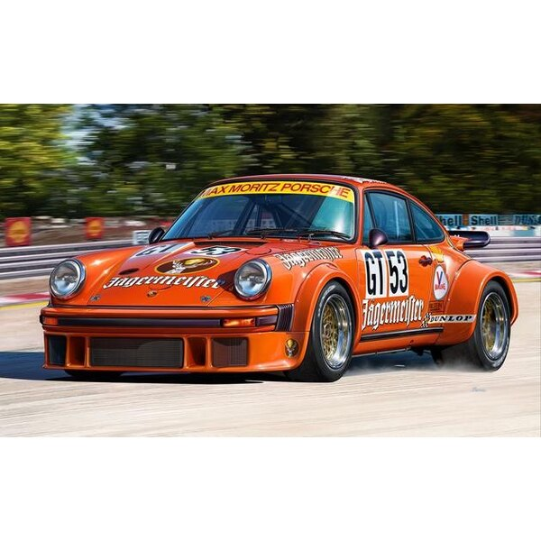 Porsche 934 RSR Jägermeister An easy to build model construction kit of this successful Group 4 GT racing car which was develope