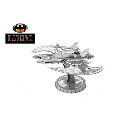 MetalEarth: BATMAN / 1989 BATWING 6.86x8.26x4.06cm, Metall 3D Modell mit 2 Blättern, auf Karte 12x17cm, 14+