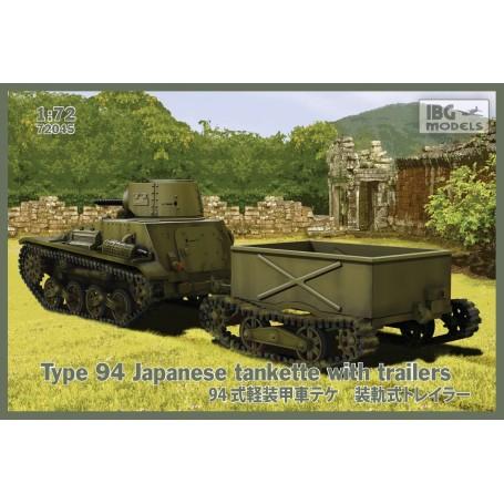 Typ 94 japanische tankette mit Anhängern (2 Anhänger im Kasten!)