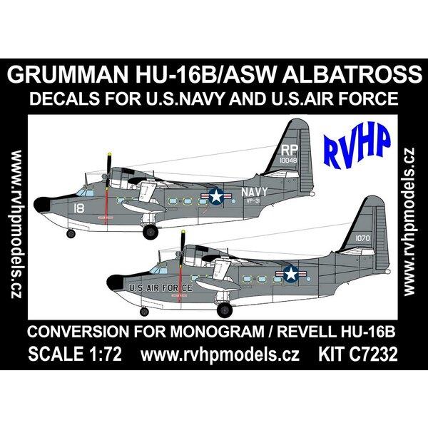 Grumman HU-16B Albatros ASW (USN + USAF) (entworfen, um mit Monogramm und Revell Kits verwendet werden)