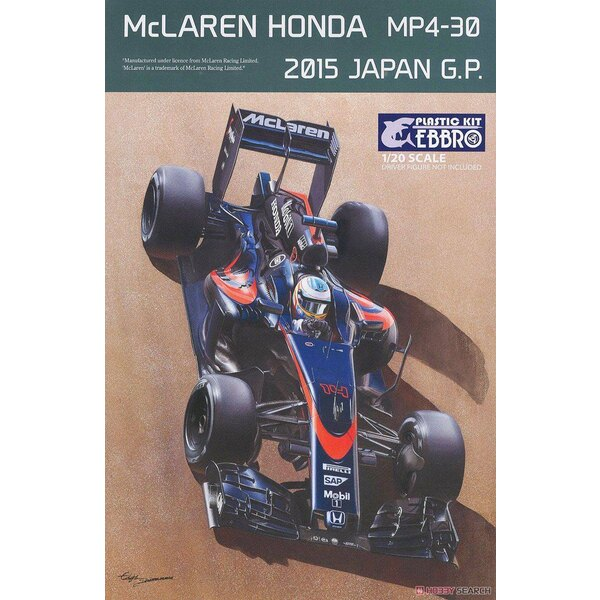 Maclaren Honda MP4-30 2015 Schwarzes Japan