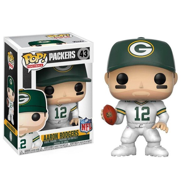 NFL POP! Football Vinyl Figur Aaron Rodgers (Green Bay Packers) 9 cm