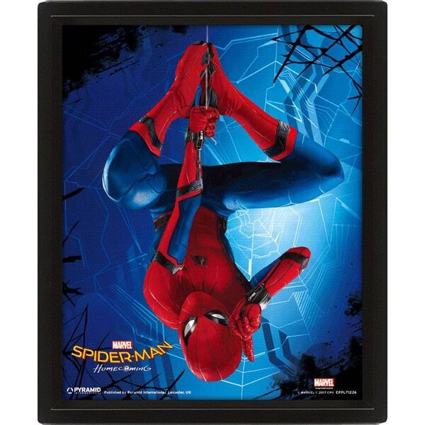 Spider-Man Homecoming 3D-Effekt Poster Set im Rahmen Hang 26 x 20 cm (3)