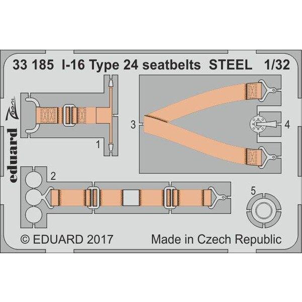 Polikarpov I-16 Typ 24 Sicherheitsgurte STEEL (entworfen, um mit ICM Kits verwendet werden)