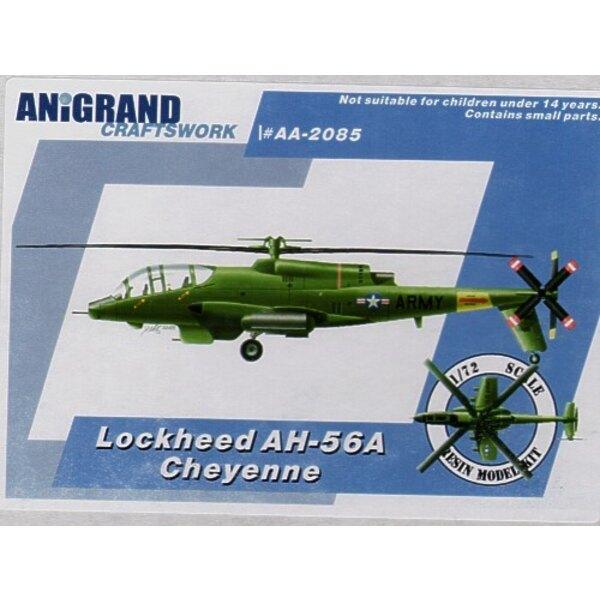 Lockheed AH-56A Cheyenne Kampfhubschrauber, um AH-1 zu ersetzen. 1965 mit wachsenden Beteiligung an Vietnam bat die amerikanisch