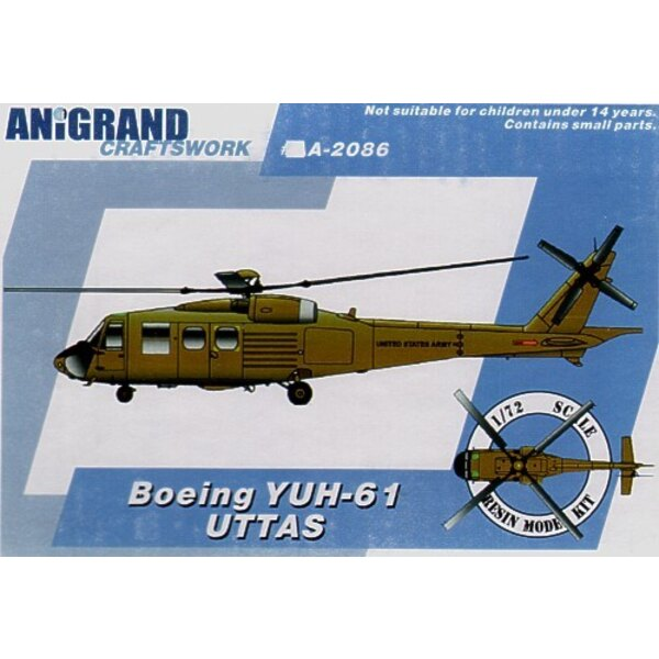 Besatzung von Boeing YUH-61. 1965 startete der US Army das Dienstprogramm Taktisches Transportflugzeugssystem (UTTAS) Programm.