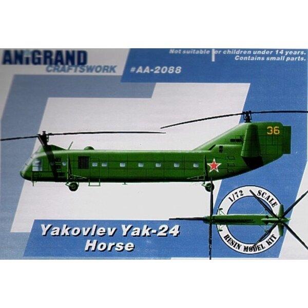Yakovlev Yak-24 Horse. 1965 startete der US Army das Dienstprogramm Taktisches Transportflugzeugssystem (UTTAS) Programm. Die an