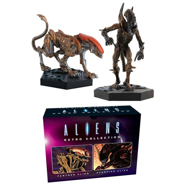 Aliens Retro Collection Figuren Doppelpack Panther & Scorpion Alien 13 cm