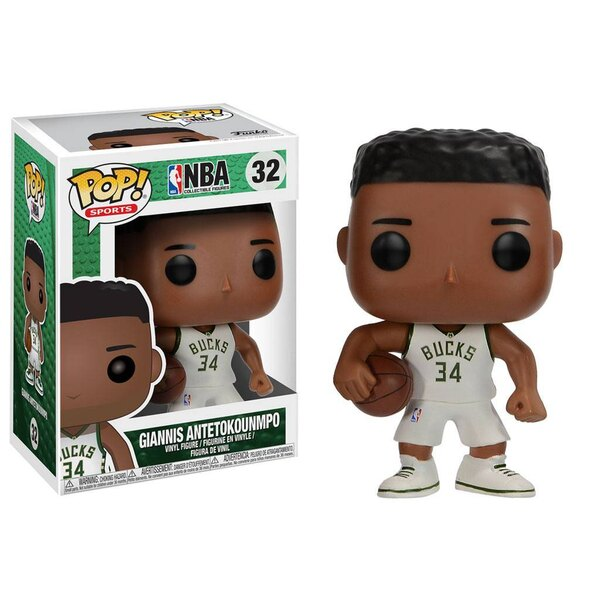 NBA POP! Sports Vinyl Figur Giannis Antetokounmpo (Milwaukee Bucks) 9 cm