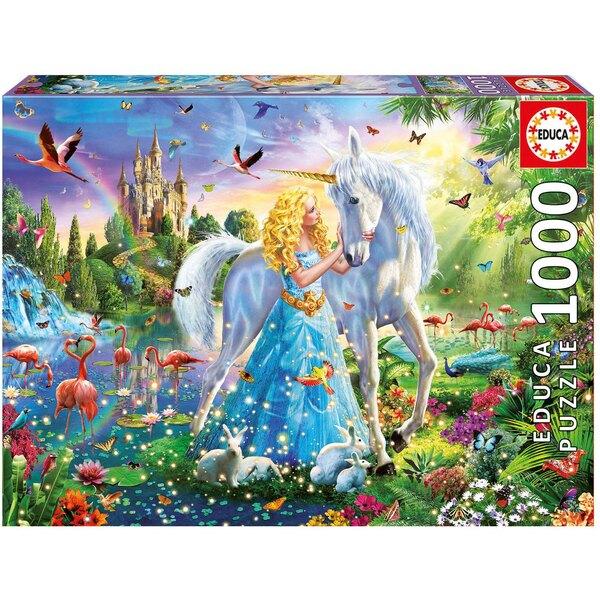 Puzzle Die Prinzessin und das Einhorn