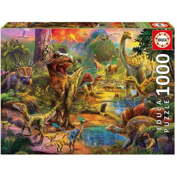 Puzzle DIe Erde von Dinosaurieren