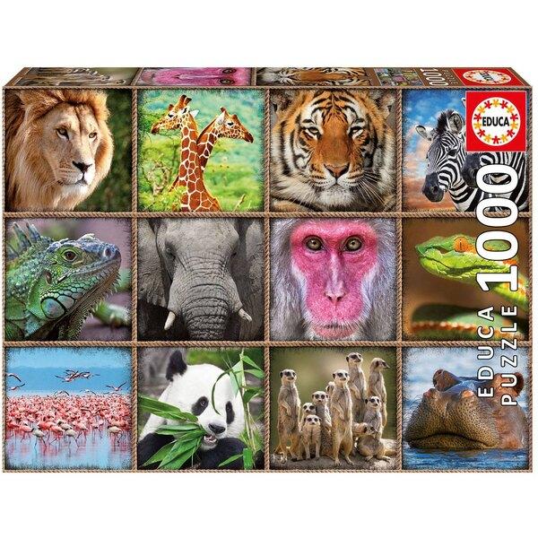Puzzle Collage von wilde Tiere