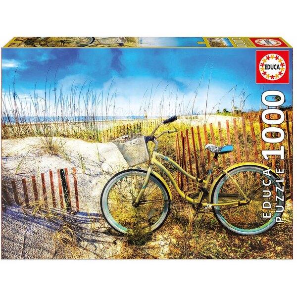 Puzzle Fahrrad in den Dünen