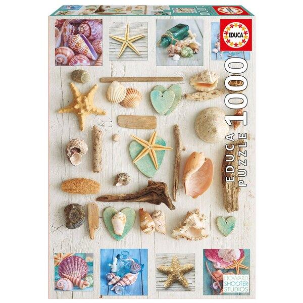 Puzzle Collage von Muscheln