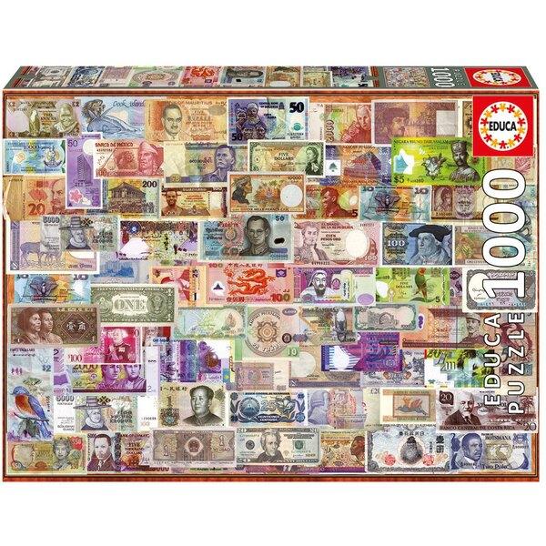 Puzzle Banknoten auf der ganzen Welt