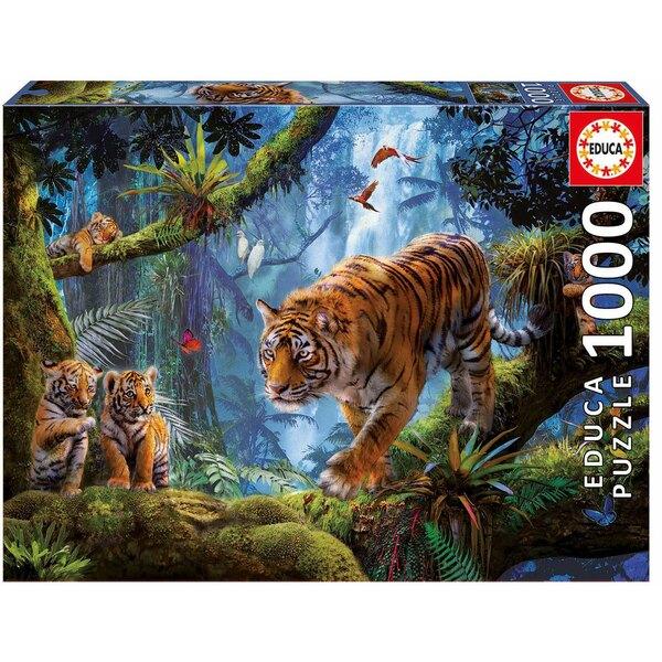 Puzzle Tiger auf dem Baum