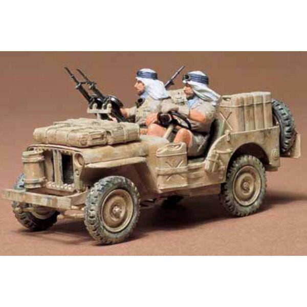 SAS Jeep mit 2 Besatzung bemalt LTD-Neuauflage