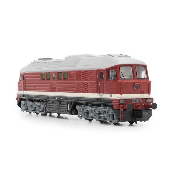 Diesellokomotive Baureihe 130 der DR, rot, Ep. IV