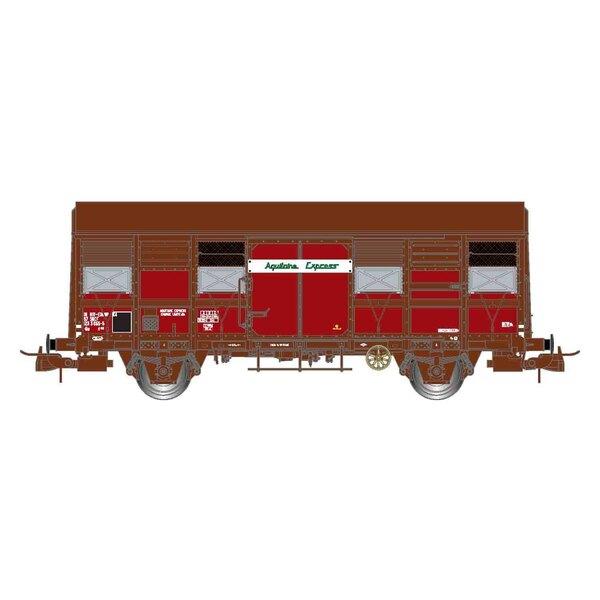 """SNCF, Box mit 2 offenen Kastenwagen, offene Fensterläden, Gss 4-02 """"Aquitaine Express"""", Epoche IV"""