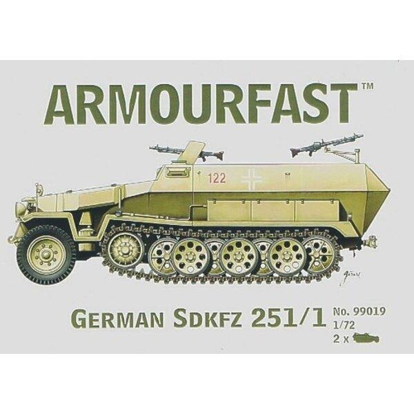 Hanomag Sd.Kfz.251:1: Satz schließt 2 Schnappen zusammen Panzer-Bausätze ein