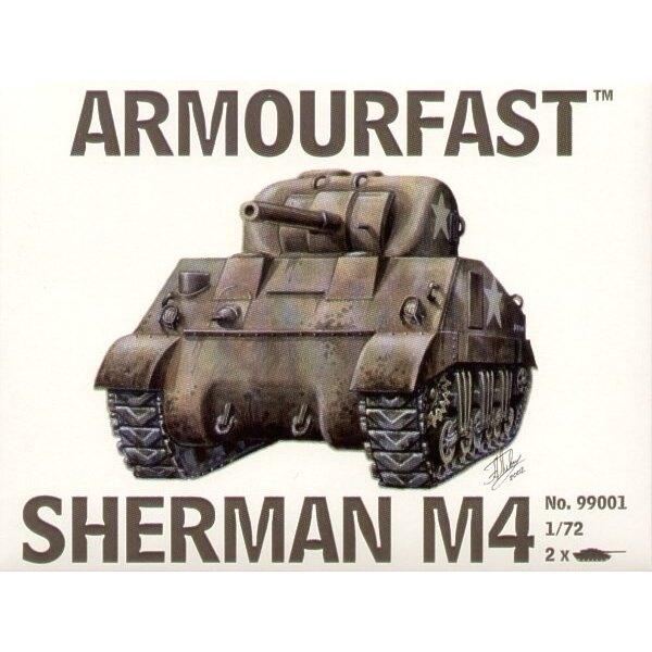 Sherman M4 M edium Panzer: Satz schließt 2 Schnappen zusammen Panzer-Bausätze ein