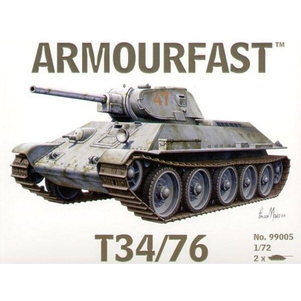 T-34/76 x 2. Satz schließt 2 Schnappen zusammen Panzer-Bausätze ein