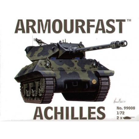 Panzer-Zerstörer Achilles x 2: Satz schließt 2 Schnappen zusammen Panzer-Bausätze ein