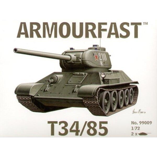 T-34/85 x 2: Satz schließt 2 Schnappen zusammen Panzer-Bausätze ein