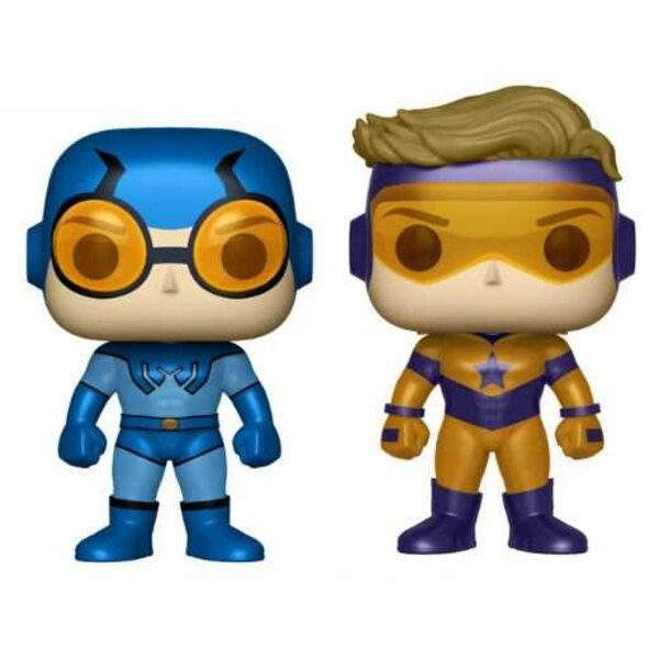 DC Super Heroes POP! Heroes Vinyl Figuren Doppelpack Blue Beetle & Booster Gold Metallic 9 cm