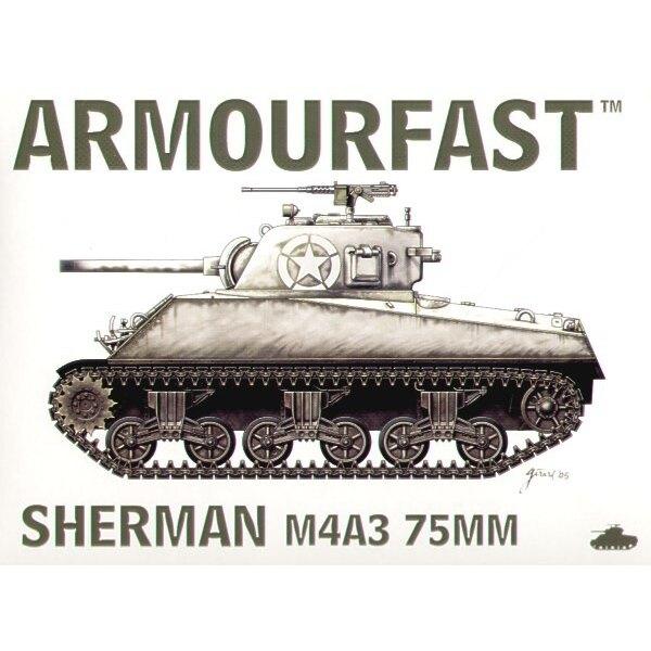 M4A3 75-Mm-Kanone von Sherman: Satz schließt 2 Schnappen zusammen Panzer-Bausätze ein