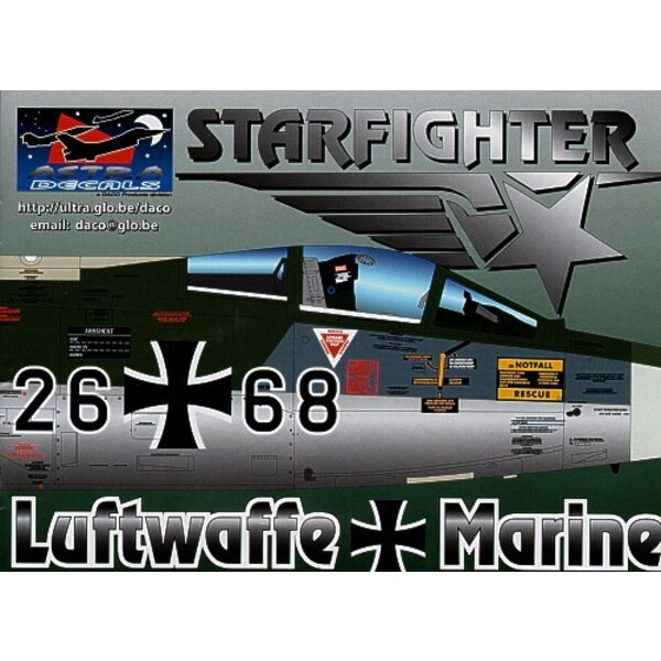 Lockheed F-104G Starfighter German decals the most researched decals ever. Containing over 1400 separate decals this set will al