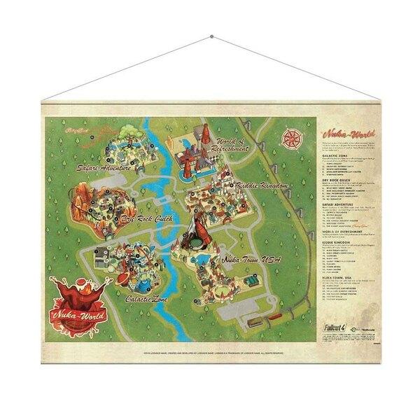 Fallout Wandrolle Nuka World Map 100 x 77 cm