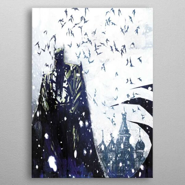 DC Comics Metall-Poster Batman Light Absorption Bat Master 10 x 14 cm