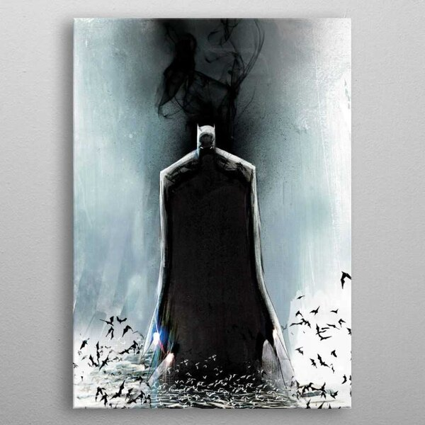 DC Comics Metall-Poster Batman Light Absorption Black Mirror 10 x 14 cm