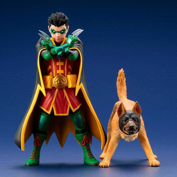 DC Comics ARTFX+ Statuen 1/10 Doppelpack Robin & Ace the Bat-Hound 15 cm