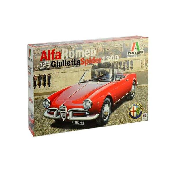 Alfa Romeo Giuletta Spider 1600 FARBEN BEDIENUNGSANLEITUNG - DETAILLIERTER MOTOR - CHROMTEILE UND KAPOTE FÜR GESCHLOSSENE VERSIO