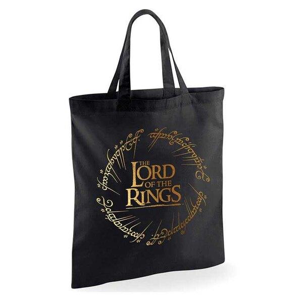 Der Herr der Ringe Goldfolie Logo Einkaufstasche