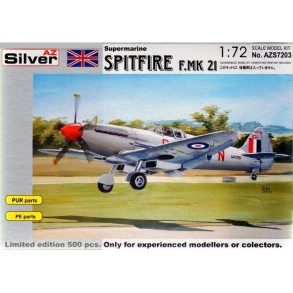 Supermarine Spitfire Mk.21 mit geätzt und Harz-Teile. Beschränkte Ausgabe-Reihe von 500 Bausätzen weltweit.