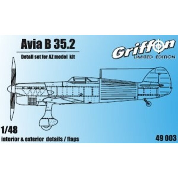 Avia B-35 II Innenaußendetail und Schläge ( für AZ Models Bausätze)