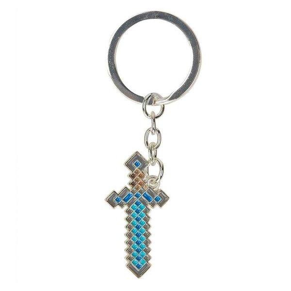 Minecraft Metal Keychain Diamantschwert 4 cm