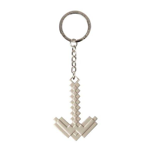 Minecraft Metall Schlüsselanhänger Metall Spitzhacke 4 cm