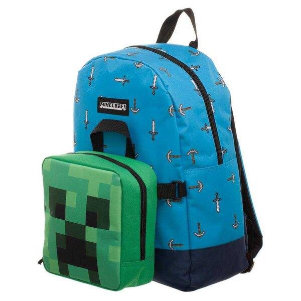Minecraft Set Rucksack und Mini Lunchbox Schwertaxt