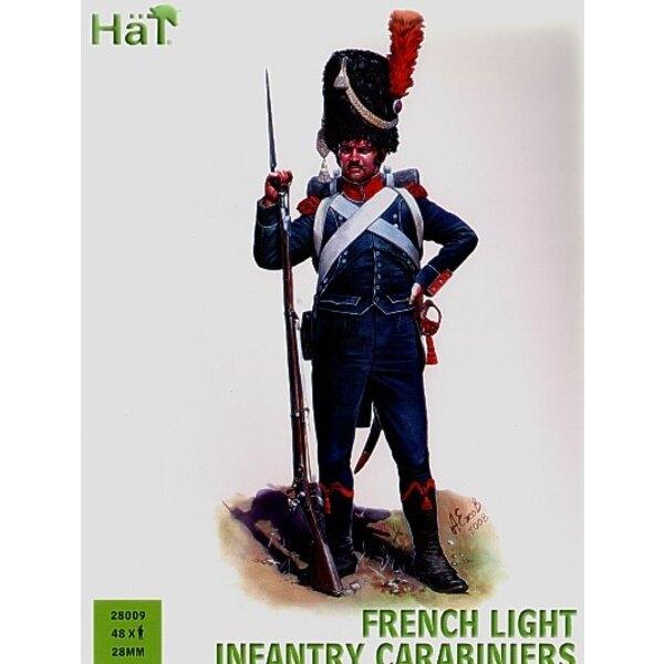 Französische Carabiniers x 48 harte Plastikfiguren