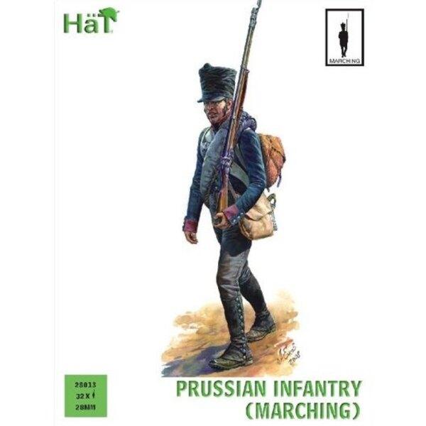Preußische Infanterie marschierend (Napoleonische Periode)