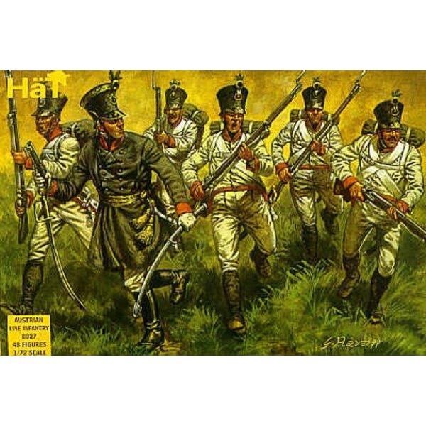Napoleonische österreichische Infanterie 48 Figuren. Mit dem Tschako.